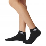 Adidas 3-Stripes Performance Ankle Socks - Black/White Adidas 3-Stripes Performance Ankle Socks - Black/White