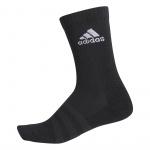 Adidas Cushioned Crew Socks - BLACK/BLACK/WHITE Adidas Cushioned Crew Socks - BLACK/BLACK/WHITE