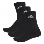 Adidas 3-Stripes Performance Crew Socks - BLACK Adidas 3-Stripes Performance Crew Socks - BLACK