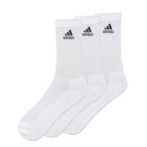 bf9fdfa1ad3 Adidas 3-Stripes Performance Crew Socks 3pk - WHITE | Sportsmart |  Melbourne's largest sports warehouses
