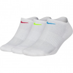 Nike Performance Cushioned No-Show Training Socks (3 Pair) - White/Multi Nike Performance Cushioned No-Show Training Socks (3 Pair) - White/Multi