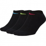 Nike Womens Everyday Cushioned No-Show Socks (3 Pair) - Black/Multi Nike Womens Everyday Cushioned No-Show Socks (3 Pair) - Black/Multi