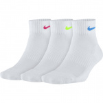 Nike Performance Cushion Quarter Socks - WHITE/MULTI Nike Performance Cushion Quarter Socks - WHITE/MULTI