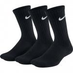 Nike Kids' Performance Cushioned Crew Training Socks (3 pair) - Black Nike Kids' Performance Cushioned Crew Training Socks (3 pair) - Black