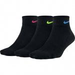 Nike Performance Cushion Quarter Socks - BLACK/MULTI Nike Performance Cushion Quarter Socks - BLACK/MULTI
