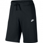 Nike Men's Jersey Club Sportswear Short - BLACK/WHITE Nike Men's Jersey Club Sportswear Short - BLACK/WHITE