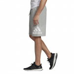 Adidas Mens Must Have BOS French Terry Shorts - Medium Grey Heather/White Adidas Mens Must Have BOS French Terry Shorts - Medium Grey Heather/White
