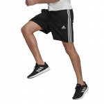 Adidas Mens Essentials French Terry 3-Stripes Short - BLACK/WHITE Adidas Mens Essentials French Terry 3-Stripes Short - BLACK/WHITE