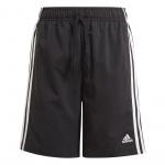 Adidas Boys Essentials 3-Stripes Woven Short - Black/White Adidas Boys Essentials 3-Stripes Woven Short - Black/White