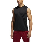 Adidas Men's FreeLift Tech Climacool 3-Stripes Sleeveless Tee - BLACK HEATHER Adidas Men's FreeLift Tech Climacool 3-Stripes Sleeveless Tee - BLACK HEATHER