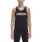Adidas Women's Essentials Linear Loose Tank - black/white Adidas Women's Essentials Linear Loose Tank - black/white
