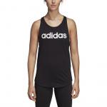 Adidas Women's Essentials Linear Loose Tank - black/white
