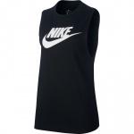 Nike Women's Essential Futura Tank - BLACK/WHITE Nike Women's Essential Futura Tank - BLACK/WHITE