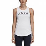 Adidas Women's Essentials Linear Loose Tank - White/Black Adidas Women's Essentials Linear Loose Tank - White/Black