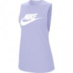 Nike Women's Essential Futura Tank - LAVENDER MIST/WHITE Nike Women's Essential Futura Tank - LAVENDER MIST/WHITE