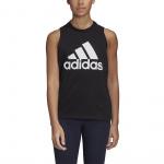 Adidas Womens Badge of Sport Cotton Tank Top - BLACK Adidas Womens Badge of Sport Cotton Tank Top - BLACK