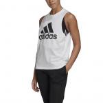 Adidas Womens Badge of Sport Cotton Tank Top - WHITE Adidas Womens Badge of Sport Cotton Tank Top - WHITE
