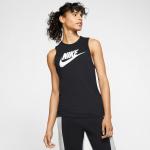 Nike Womens Muscle Tank - BLACK/WHITE Nike Womens Muscle Tank - BLACK/WHITE