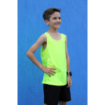 Go Sport Boys Tech Singlet - Fluro Yellow Go Sport Boys Tech Singlet - Fluro Yellow