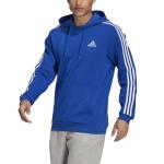 Adidas Mens Essentials Fleece 3-Stripes Hoodie - Team Royal Blue/White Adidas Mens Essentials Fleece 3-Stripes Hoodie - Team Royal Blue/White