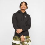 Nike Men's Sportswear CLUB Hoodie - BLACK - MAY 19 Nike Men's Sportswear CLUB Hoodie - BLACK - MAY 19