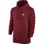 Nike Men's Sportswear Club Hoodie - TEAM RED - MAY Nike Men's Sportswear Club Hoodie - TEAM RED - MAY