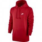 Nike Men's Sportswear CLUB Hoodie - University Red Nike Men's Sportswear CLUB Hoodie - University Red