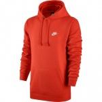Nike Men's Sportswear CLUB Hoodie - TEAM ORANGE - JUNE 19 Nike Men's Sportswear CLUB Hoodie - TEAM ORANGE - JUNE 19