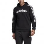 Adidas Mens HOODED SWEATSHIRT - Black/White Adidas Mens HOODED SWEATSHIRT - Black/White
