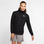 Nike Mens DRI-FIT FullZip Training Hoodie - Black/WHITE Nike Mens DRI-FIT FullZip Training Hoodie - Black/WHITE