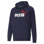 PUMA Mens Essentials+ Two-Tone Big Logo Hoodie - PEACOAT PUMA Mens Essentials+ Two-Tone Big Logo Hoodie - PEACOAT