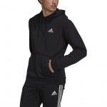 Adidas Mens Feelcozy Fleece Hoodie - Black/White Adidas Mens Feelcozy Fleece Hoodie - Black/White