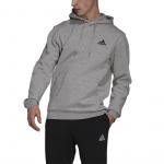 Adidas Mens Feelcozy Fleece Hoodie - Medium Grey Heather/Black Adidas Mens Feelcozy Fleece Hoodie - Medium Grey Heather/Black