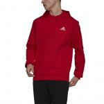 Adidas Mens Feelcozy Fleece Hoodie - Scarlet/White Adidas Mens Feelcozy Fleece Hoodie - Scarlet/White
