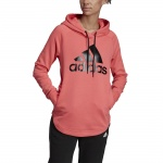 Adidas Women's Must Haves BOS Over-head Hoodie - Prism Pink/White Adidas Women's Must Haves BOS Over-head Hoodie - Prism Pink/White
