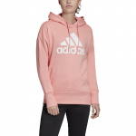 Adidas Womens BOS Long Overhead Hoodie - Glory Pink/White Adidas Womens BOS Long Overhead Hoodie - Glory Pink/White