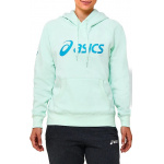 ASICS Womens Fleece Hoodie - Mint Tint ASICS Womens Fleece Hoodie - Mint Tint