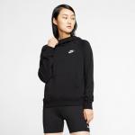 Nike Womens Sportswear Essential Pullover Hoodie - BLACK/WHITE Nike Womens Sportswear Essential Pullover Hoodie - BLACK/WHITE