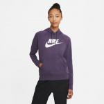 Nike Womens Sportswear Essential Hoodie - DARK RAISIN/WHITE Nike Womens Sportswear Essential Hoodie - DARK RAISIN/WHITE