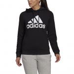 Adidas Womens Essentials Logo Fleece Hoodie - Black/White Adidas Womens Essentials Logo Fleece Hoodie - Black/White