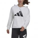 Adidas Womens Sportswear Future Icons Three Bar Hoodie - White Adidas Womens Sportswear Future Icons Three Bar Hoodie - White