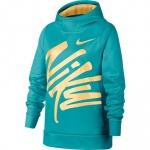 Nike Girls DRI-FIT Therma Hoodie - CABANA/MELON TINT Nike Girls DRI-FIT Therma Hoodie - CABANA/MELON TINT