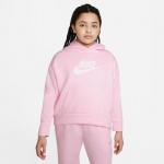 Nike Girls Sportswear Club Fleece Hoodie - PINK FOAM /WHITE Nike Girls Sportswear Club Fleece Hoodie - PINK FOAM /WHITE