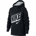 Nike Boys Therma Graphic Training Pullover Hoodie - BLACK/WOLF GREY Nike Boys Therma Graphic Training Pullover Hoodie - BLACK/WOLF GREY