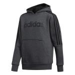 Adidas Boys' Hooded Sweatshirt 3S - Dark Grey Heather/Black