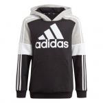 Adidas Kids Essentials Colorblock Hoodie - Black/Medium Grey Heather/White Adidas Kids Essentials Colorblock Hoodie - Black/Medium Grey Heather/White