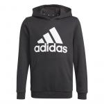 Adidas Boys Essentials Big Logo Hoodie - Black/White Adidas Boys Essentials Big Logo Hoodie - Black/White