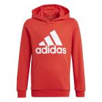Adidas Boys Essentials Big Logo Hoodie - Vivid Red/White Adidas Boys Essentials Big Logo Hoodie - Vivid Red/White