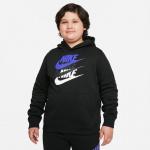 Nike Boys Sportswear Pullover Hoodie - BLACK Nike Boys Sportswear Pullover Hoodie - BLACK