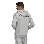 Image 2: Adidas Men's Essentials Linear Fullzip French Terry Hoodie - Medium Grey Heather